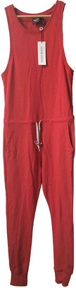 Sweet Pants Pink Cotton Jumpsuits