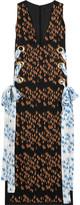 Ellery Utopian printed silk-twill midi dress