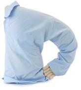 Boyfriend Cotton Throw Pillow Deluxe Comfort Color: Blue