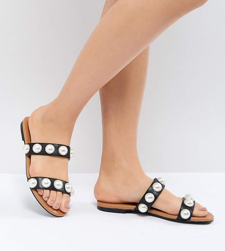 Monki 2 Strap Slip On Sandal