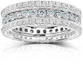 Kobelli Jewelry Kobelli 2 CT TW Diamond 14K White Gold 3-Piece Eternity Wedding Band