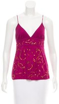 Diane von Furstenberg Sleeveless Sequined-Embellished Top w/ Tags