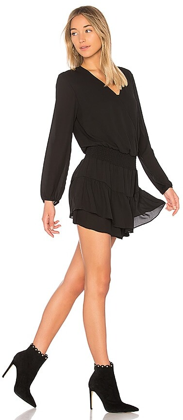 Thumbnail for your product : Krisa Smocked Surplice Dress
