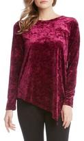Karen Kane Women's Asymmetrical Hem Velvet Top