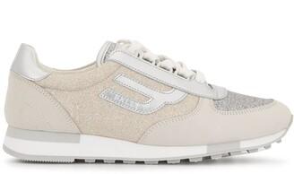 Bally Glitter Colour Block Sneakers
