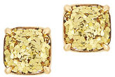 Kate Spade Glitter Square Stud Earrings/Goldtone