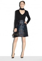 Milly Confetti Check Kayla Mini Pleated Skirt