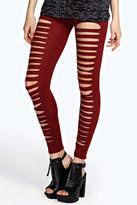 Boohoo Lucy Split Front Jersey Leggings
