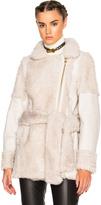 Lanvin Belted Shearling Jacket