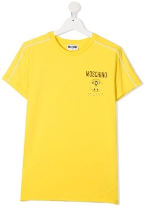 MOSCHINO BAMBINO TEEN metallic double question mark-print T-shirt