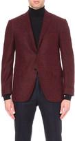 Corneliani Tailored-fit houndstooth alpaca-blend blazer