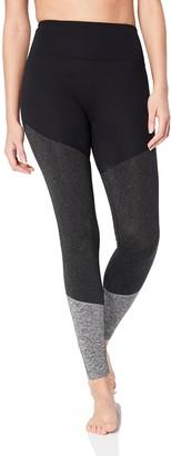 "Core 10 Women's Tri-colour Tight 28"" Leggings Grey (black/dark heather/grey heather) Large"
