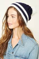 Forever 21 Striped Fleece Beanie