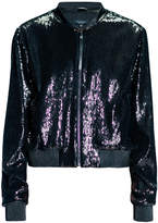 Leka Sequin Bomber Jacket