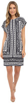 Christin Michaels Toni Printed Shift Dress