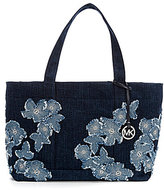 MICHAEL Michael Kors Denim Flower XL Tote