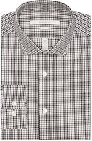Perry Ellis Slim Fit Mini Gingham Dress Shirt