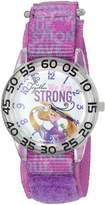 Disney Girl's 'Rapunzel' Quartz Plastic and Nylon Automatic Watch, Color: (Model: W002970)