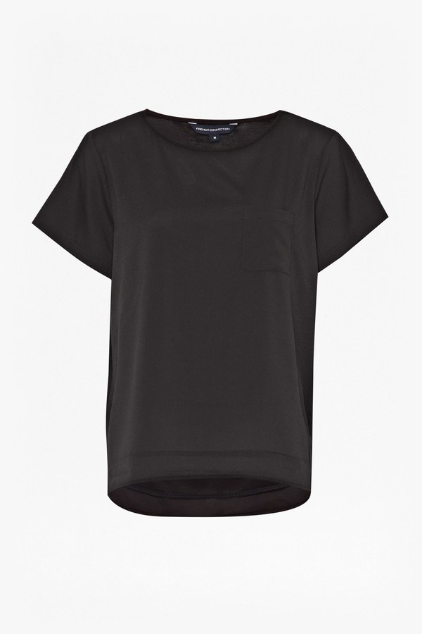 French Connection Polly Plains Pocket Top