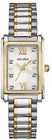 Bulova Women's Stainless Steel Two-Tone Crystal