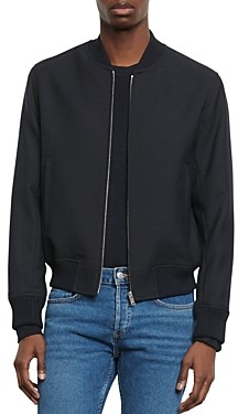 Sandro Teddy Slim Fit Bomber Jacket