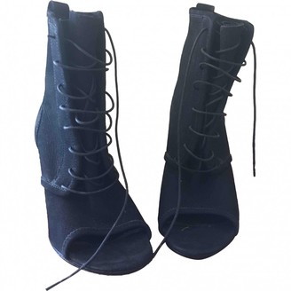 Jil Sander Blue Leather Ankle boots