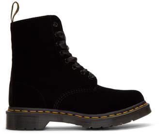 Dr. Martens Black Velvet 1460 Pascal Boots