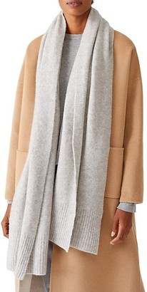 Eileen Fisher Wrap Cashmere-Blend Scarf