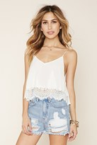 Forever 21 FOREVER 21+ Lace-Paneled Cropped Cami