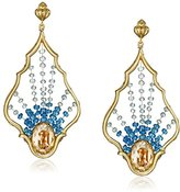 "Azaara Romantic"" Aqua Dream Catcher Drop Earrings"