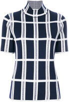 Victoria Beckham tartan checked blouse