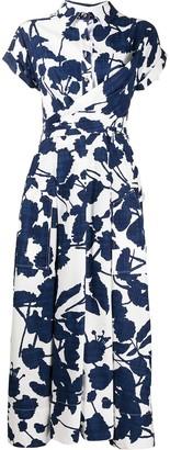 Talbot Runhof Sorrentina floral print dress
