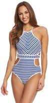 Jessica Simpson Swimwear Maritime High Neck Monokini 8152642