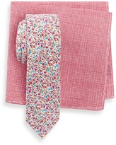 Original Penguin Daisy Floral Slim Tie & Pocket Square Set
