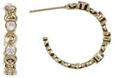 Melinda Maria Penelope Mixed CZ Mini C-Hoop Earrings