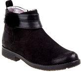 KensieGirl Black Pom-Pom Ankle Boot