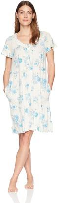 Aria Women's Printed Short Sleeve Nightgown