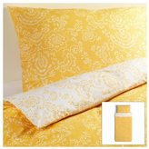 Ikea Akertistel 2pc Twin Duvet Quilt Cover 100 Percent Cotton Yellow / White by