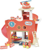 Vilac Wooden Fire Station - 10 pieces