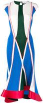Esteban Cortazar geometric ribbed dress