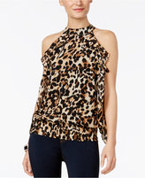 Thalia Sodi Animal-Print Ruffled Top, Only at Macy's