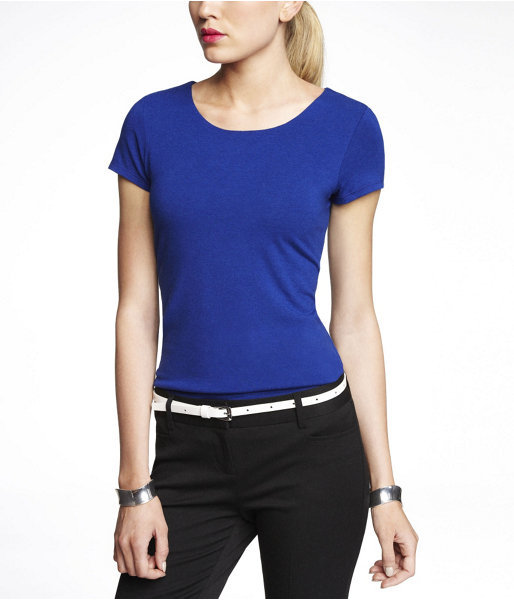 Express Fitted Zip Back Two Layer Tee