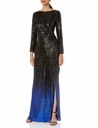 Tadashi Shoji Women's L/S All-Over Sequin Gown