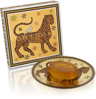 Ortigia Glass Plate & Soap - Ambra Nera