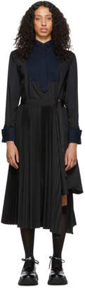 Sacai Black Shirting Dress