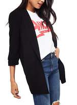 Miss Selfridge Ruched Sleeve Blazer