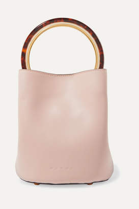 Marni Pannier Small Leather Bucket Bag - Pastel pink