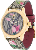 Gucci floral strap watch