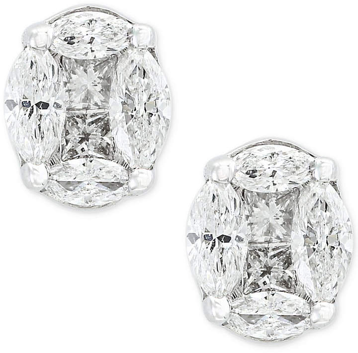 Effy Classique by Diamond Stud Earrings (1/2 ct. t.w.) in 14k White Gold