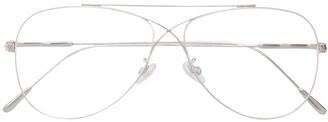 Tom Ford Thin Frame Aviator Sunglasses